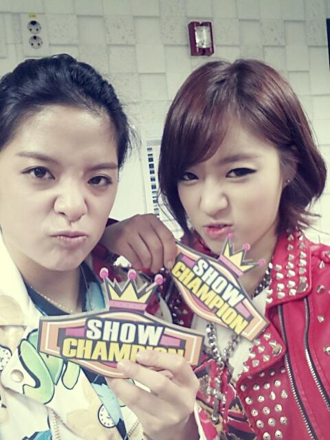 t-ara eunjung with fx amber