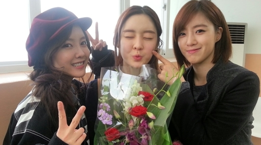 hyomin eunjung at areum graduation