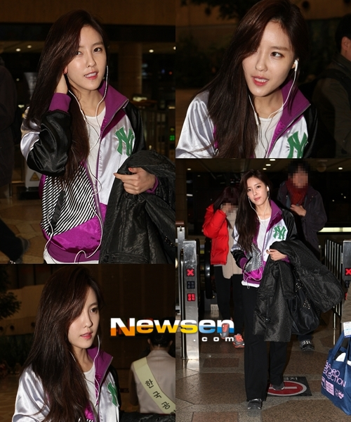 t-ara hyomin goes to Japan for JINX (1)